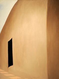 Georgia O'Keeffe - Patio With Black Door, 1955 Ooooh... I have been AT this door in her house in Abiquiu. Painted the year I was born.