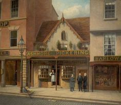 39, Long Row, the Market Place, Nottingham  by Sylvanus Redgate        Date painted: 1879
