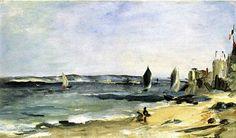 Seascape At Arcachon (Arcachon, Beautiful Weather) -- Édouard Manet (Impressionismo)