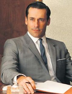 Don Draper (Jon Hamm) of Mad Men on AMC.  The new season starts March 25.