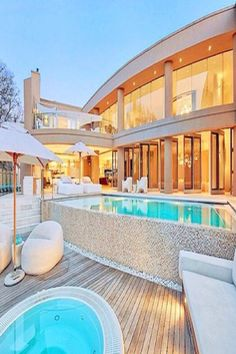 luxury homes and pools