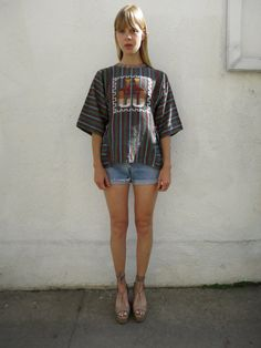 Embroidered Tribal Shirt Cotton 70s sz. S by fairseason on Etsy, $46.00