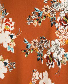 Zara floral print skirt