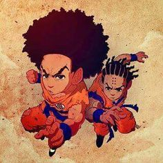 """Heuy"" & ""Riley"" Freeman as Dragon Ball Z's Goku & Krillen"