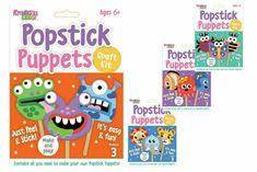 Kreative Kids Popstick Puppets Craft Kit Make 3 Puppets Art Crafting Set   eBay Puppet Crafts, Toy Craft, Craft Kits For Kids, Crafts For Kids, New Crafts, Arts And Crafts, Friend Crafts, Scene Kids, Mosaic Crafts