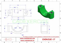 Killer Ab Workouts, Killer Abs, Easy Workouts, Mechanical Design, Mechanical Engineering, Cad 3d, Drawing Exercises, Cad Drawing, Drawing Practice