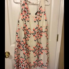 "Fab'rik geometric lined polyester large dress NWOT Measures 38"" bust..35"" length..fully lined Fab'rik Dresses Mini"