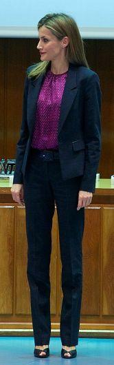 Hugo Boss navy mottled wool 'Jetala' blazer with matching 'Taru' trousers