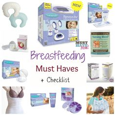 Breastfeeding Must Haves + Breastfeeding Essentials Checklist