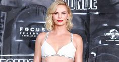 Charlize Theron Wears a White Bra and Mini Skirt to the Atomic Blonde Berlin Premiere