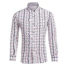 Button Up Color Block Long Sleeve Casual Shirt