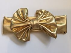 A personal favorite from my Etsy shop https://www.etsy.com/listing/243704278/metallic-messybow-headband-one-size-baby