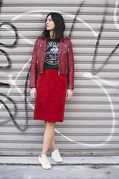 Get this look: http://lb.nu/look/8622633  More looks by Ewa Sleszynski: http://lb.nu/urbancreativitea  Items in this look:  Maje Jacket, Zara Top, Vintage Skirt, Common Projects Shoes   #street #photooftheday #lookoftheday #outfitoftheday #potd #lotd #ootd #fashion #fashionstyle
