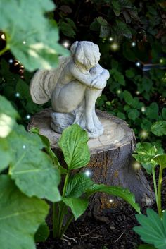 The house in the roses- fairy statue