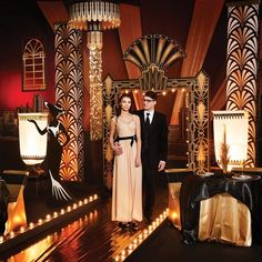 Puttin on the Ritz Complete Theme-A little bit of art deco, a little bit of old hollywood, 1920's gatsby and lots of glimmering gold.  Perfect for Prom 2016