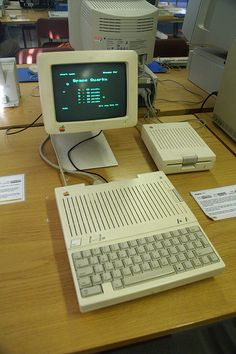 This is the apple II the first house hold computer that was affordable and it also was quite capable to play games on when it first debuted