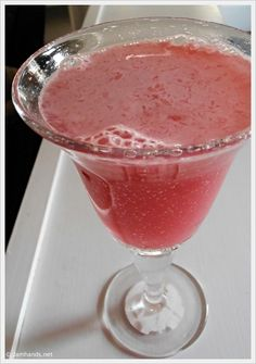 Bubbly Love Potion Punch Non-Alcoholic  Makes 4 to 6 servings    1 (12-ounce) can pink lemonade concentrate  4 cups raspberry sherbet  1 (12-ounce) can of lemon/lime soda (I used Sprite)