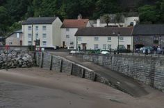 The slipway at the harbour. Minehead.