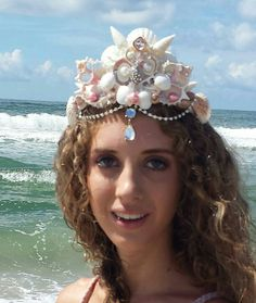 Check out this item in my Etsy shop lovebudsetc https://www.etsy.com/listing/470362497/mermaid-sea-shell-crown-with-pearls-and