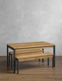 Baltimore Dining Table with Benches | M&S Dining Table With Bench, Dining Set, A Table, Dining Room Furniture, Garden Furniture, Elegant Dining, Sofa Shop, Home Comforts, Simple Shapes