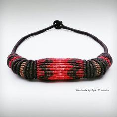 Handmade Jewelry Statement Bead Necklace Choker by ThousandKnots