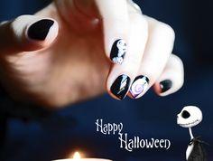 Halloween Nails - Jack Skellington