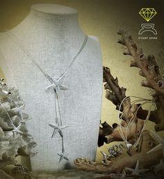 Starfish Necklace,Sterling Silver Necklace de Dcastjoyas en Etsy