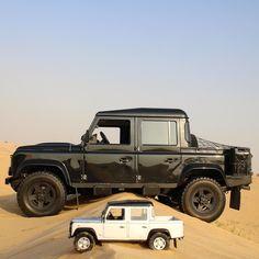 Little and Large. #MyDubai #AlQudra #Offroad #Desert #Dunes #4x4 #Weekend #LandRover #LandRoverMENA #LandRoverDefender #Defender110 #Defender #DefenderCrewCab #ScaleModels #1:18 #theladsfamily by nissanpatrol33 Little and Large. #MyDubai #AlQudra #Offroad #Desert #Dunes #4x4 #Weekend #LandRover #LandRoverMENA #LandRoverDefender #Defender110 #Defender #DefenderCrewCab #ScaleModels #1:18 #theladsfamily