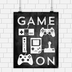 Video Game Printable Art Typography Game by DigitalDriveInToo