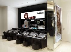 backwash area Beauty Salon Interior, Salon Ideas, Surabaya, Soho, Salons, Salon Interior, Lounges, Small Home Offices, Suho