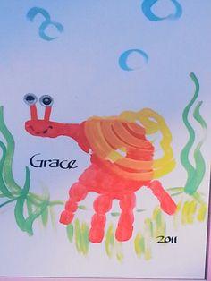 Crab hand art