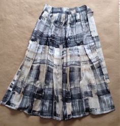 Le Bouton CSA 2015 Banded Skirt - cotton voile print, limited.