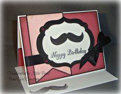 Pink Mustache Birthday Handmade Birthday Mustache Cards, Moustache, Mustache Birthday, Birthday Board, Handmade Crafts, Card Ideas, Layouts, Christmas Cards, Birthdays