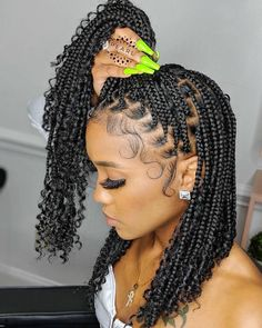 Box Braids Hairstyles For Black Women, Braids Hairstyles Pictures, Braids For Black Women, African Braids Hairstyles, Hair Pictures, Black Hair Braid Hairstyles, Short Braided Hairstyles, Hairstyles For Natural Hair, Kinky Hairstyles