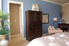 Bracing blue sherwin williams - 2 walls blue the others 2 a shade lighter than the Latte shown here