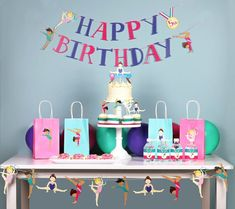 Everything you need to know to throw a great Gymnastics Party. The best gymnastics party ideas, favors and supplies for gymnastics birthday or team parties. Gymnastics Cake Toppers, Gymnastics Cakes, Gymnastics Birthday, Gymnastics Training, Happy Birthday Girls, 1st Birthday Banners, Birthday Party Decorations, Decoration Party, Birthday Ideas