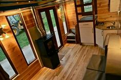Inside the hot tub tiny home