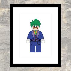 The Joker - Lego Minifig Poster - PDF JPG - Instant Download