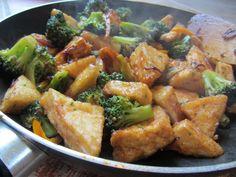 Sweet and Sour Tofu and Broccoli