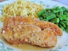 The Country Cook: Crock Pot Lemon Garlic Chicken