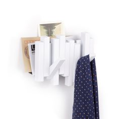 sticks wall hook   mail organizer white