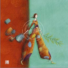 """Gaelle Boissonnard Card (appr. 6"""" x 6"""") requires extra postage.  Available at Adelaide's Flowers La Jolla.  $5.75"""