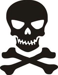 Skull n Crossbones Jolly Roger Car Truck by PirateVinylDecals, $3.50