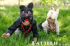 Scott and Scotia Scottish Terrier Puppy Dog Hat Crochet Pattern & Westie West Highland White Terrier Crochet Pattern Crochet Animal Hats, Crochet Hats, Scottish Terrier Puppy, Puppy Hats, Westie Puppies, White Terrier, Scottie Dog, Crochet Patterns, Knitting