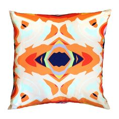 The Blush Label Isabela Decorative Pillow #home decor sale & deals Pillow:Cover Only, Size:22-in x 22-in Isabela Decorative Pillow Eclectic and vibrant, the Isabela pillow is a sharp mix of bright, geometric shapes. I...