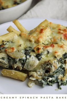 This creamy spinach pasta bake is, in my opinion, the definition of comfort food! It's easy to make, with simple ingredients you probably already have in your home. Also, it's creamy and covered with molten golden cheese! But, you may ask, is this glorified mac and cheese? Probably… Am I still calling it fancy? Well, sure! Whatever you call it, I hope you try this recipe and enjoy some comforting pasta! Click the link to find this delicious recipe! #pastabake #vegetariandinner #comfortfood Vegetarian Pasta Recipes, Vegetarian Dinners, Vegan Recipes, Cooking Recipes, Spinach Pasta Bake, Mac Cheese Recipes, Creamy Spinach, Comfortfood, Pot Pies