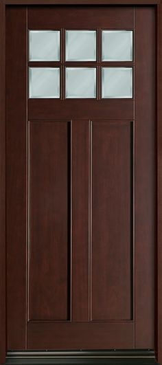Classic Series Mahogany Solid Wood Front Entry Door - Single - DB-112W