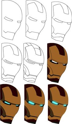 how to draw iron man drawings wow