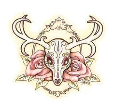 Sugar Deer Skull by JessicaDunn.deviantart.com on @deviantART