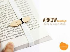 Arrow Bookmark from ice cream sticks